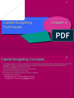Capital Budgeting Technique in finance