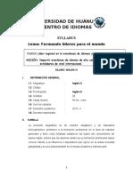 modelo chio udh SILABO INGLÉS 4 - 2019 - 2