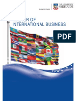 Master of International Business Program Brochure