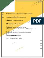 Tema de interés social (Retroalimentación de la unidad el Reportaje)
