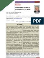 Consideraciones Anatómicas sobre el Primer Espacio Comisural de la Mano