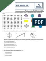 ATIVIDADE DE MATEMÁTICA - Ângulos Poligonos simetria