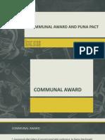 COMMUNAL AWARD AND PUNA PACT