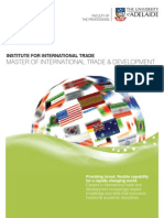 Master of International Trade and Development Program Brochure