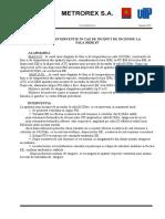 IPOTEZE DE INTERVENTIE IN CAZ DE INCEPUT DE INCENDIU LA SALA 10(20) kV