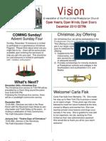December 2010  Vision Newsletter