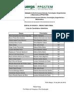 Resultado Final - Processo Seletivo PPGSTEM