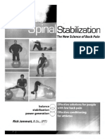 Spinal Stabilization the New Science of Back Pain