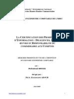 LA CERTIFICATION DES PROSPECTUS