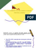 2. A GEOGRAFIA POLÍTICA CLÁSSICA E O ESTADO TERRITORIAL MODERNO_2009-1