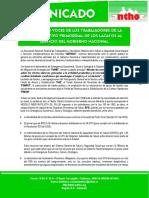 Comunicado Anthoc Situacion Del Sector Salud
