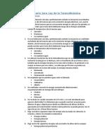 Cuestionario 1era Ley de la Termodinámica