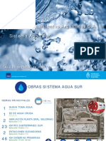 Sistema Agua Sur AYSA informe enero 2020