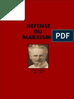 Trotsky, Défense du marxisme