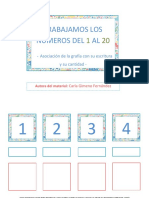 material teacch asociacion numero-grafia-cantidad 1 al 20