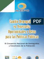 Cambio Demografico en Venezuela des y Retos Para Las Politicas Publicas - Presentacion