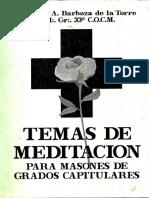 Temas Capitulares de Meditación  BarbozaTorres