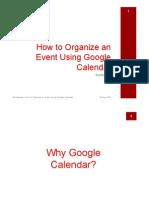 How to Organize an Event Using Google Calendar