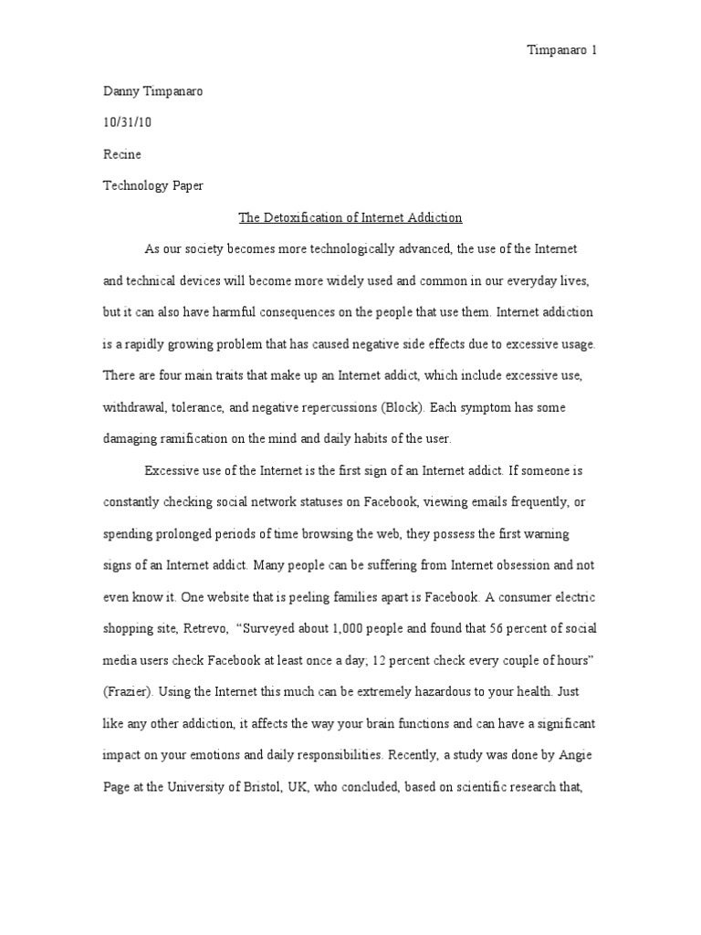 essay about the internet
