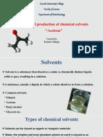 industrial productio - acetone