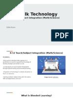 lets talk technology k-12 tech subject integration math science etec 5203