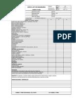Camion Pluma Check List