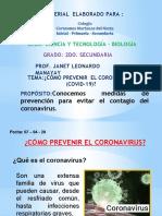 coronavirus 2° SEC -BIOLOGIA