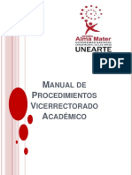 Manual de Procedimientos ACREDITACION