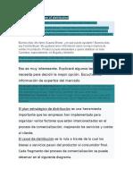 DIALOGO  Strategic plan of distribution traducion