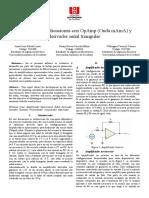 Aplicaciones con OpAmp y derivado de señal triangular