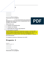 EVALUACION CLASE 5 DIRECCION DE PROYECTOS I