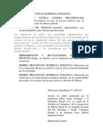 DEBIDO PROCESO EN QUERELLA POLICIVA