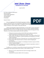 4-14 GOP Senators Letter to WHO