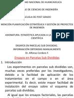 5. ENSAYOS PARCELAS SUB DIVIDIDIDAS.