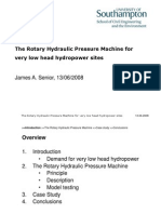 2. James Senior - The Rotary Hydraulic Pressure Machine for for Very Low Head Hydro Power Sites