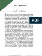 Olivier Messiaen (Adolfo Salazar - Revista Universidad de Chile)