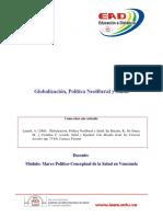 Articulo 1. Globalizacion politica neoliberal y salud