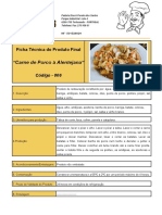 Ficha Técnica Carne de Porco à Alentejana