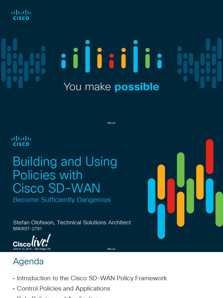 Building And Using Policies With Cisco Sd Wan Brkrst 2791 Routing Virtual Private Network