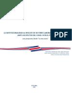 La institucionalidad al rescate de sectores laborales y productivos ante los efectos del Covid-19 en el país