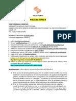 1 PRUEBA ESCRITA DERECHO CONSTITUCIONAL (Unidad I) 2020 Tipo B