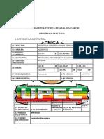 Programa Analítico TECNOLOGIA DE CEREALES Y OLEAGINOSAS
