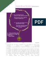 Rosario de Maria Rosa Mystica 1