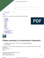 Ultimas soluciones a la restricción de Megavideo - HDcine