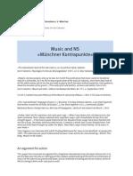 Münchner Kontrapunkte – Nazism, Postwar Germany and Music – Setting, Goal, Dimensions EN