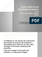 Guías didácticas transdisciplinarias - Aída América Gómez Bejar