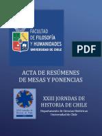 actas de resumenes xxiii jornadas de historia de chile pdf 103 mb