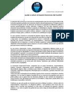 Propuestas Para Ayudar a Reducir El Impacto Economico Del Covid19