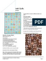 Simple Math Quilts