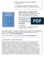 The theory and practice of diplomatic law in the renaissance and classical period
